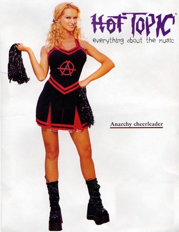 EXTREMELY sizzling hot cheerleader in hot topic anarchy gear